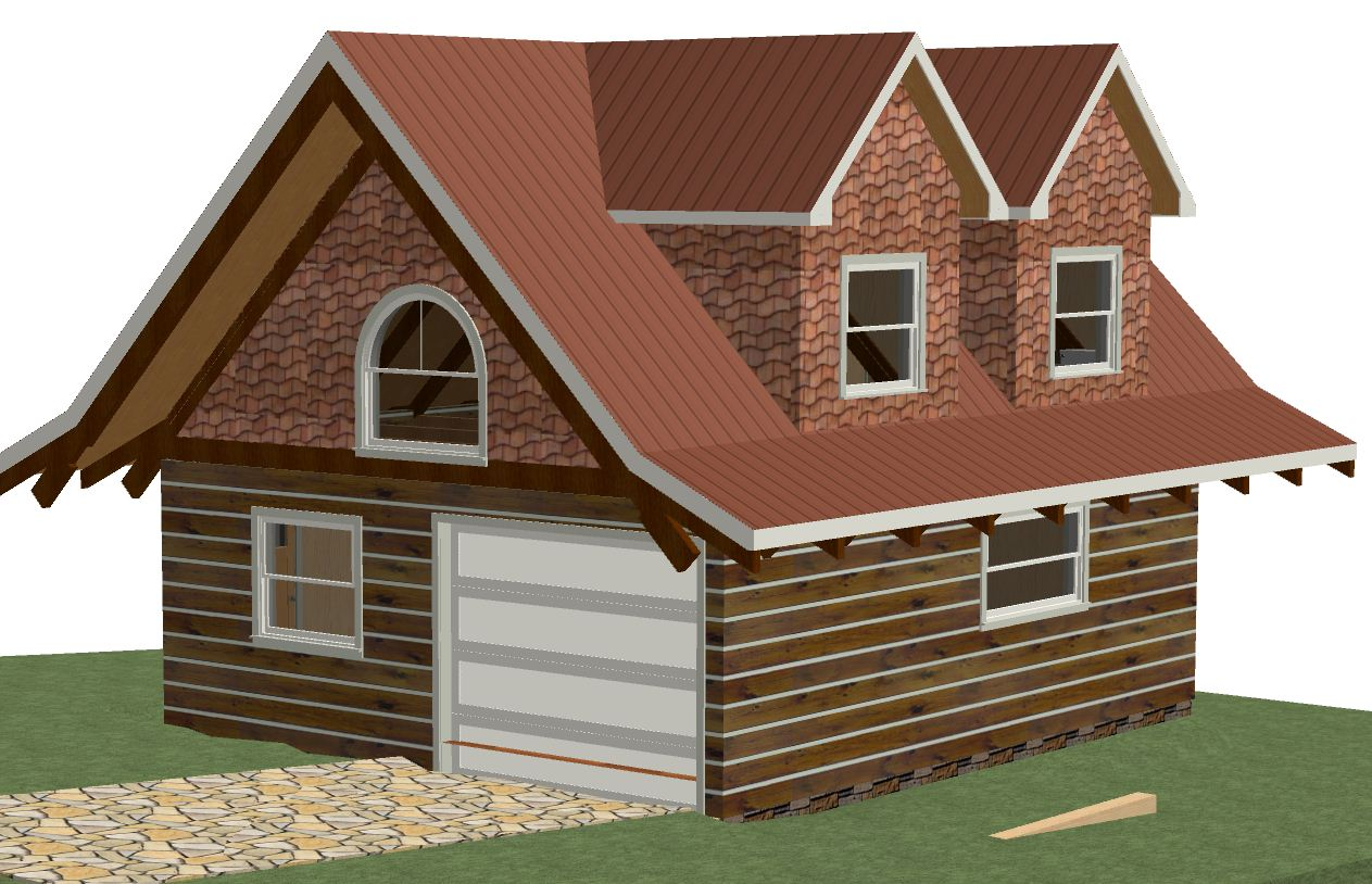 Log garage studio kit 24 39 x28 39 672 sqft 24 x 28 garage plans free