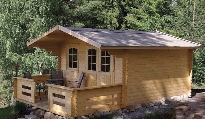 Affordable log homes cottages and cabins from vancouver for Home hardware garage packages cost