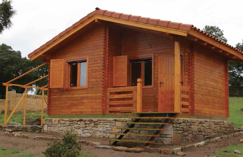 Salamanca 200 Sqft Prefab Log Cabin Kit
