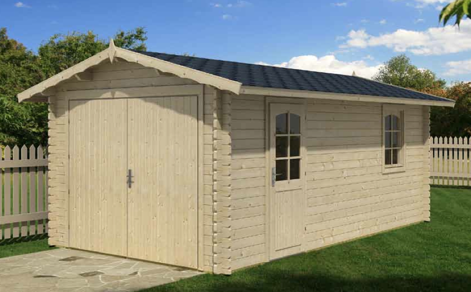 Garage a 170 sqft for Log home garage kits